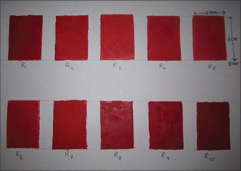 Figure 6: Specimens pigmented with alizarin red